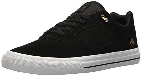 Emerica Men's Reynolds 3 G6 Vulc Skate Shoe, Black/White/Gold, 7 Medium US