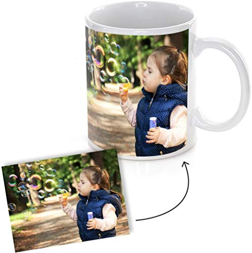 Promo Shop 2 x Taza Personalizada con Foto o Imagen Que desees (Personaliza tu Idea) · Tazas Personalizadas a Todo Color (1 Cara de la Taza) Originales · Taza Blanca Ceramica 350ml