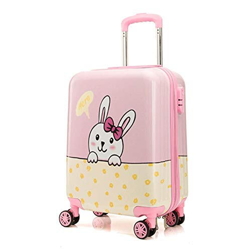 NLZQ Kids Luggage,Upright Hardside Carry on Luggage with 4 Spinner Wheels 19In Personalized Kids Suitcase Best Gifts for Kids-Suti for Travel School Camping