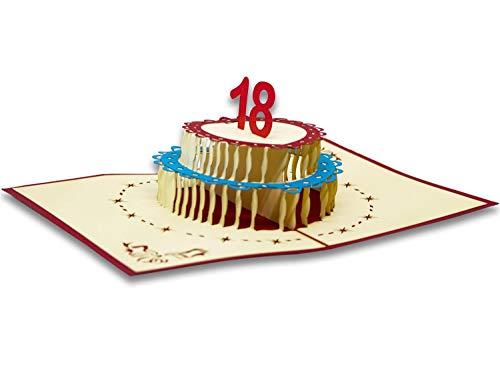 RF Distribution - Tarjeta de felicitación con origami, 18 años