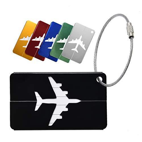 Yizhet 6 Piezas Etiquetas para Equipaje Bolso ID Tag Viaje Bolso del Equipaje de la Maleta Identifier Las Etiquetas Maletas Viaje Luggage ID Tag para Maletas Equipaje (6 Colores)
