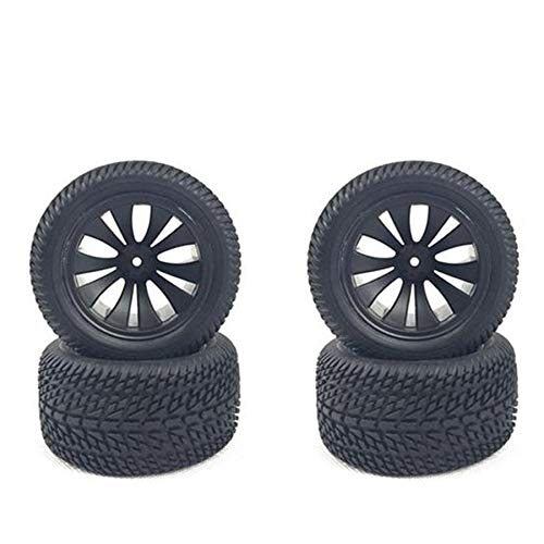 JVSISM 4Pcs for HBX 1/12 High Speed RC Car Tires Rubber Wheel Complete for Truck 12056 Car Parts