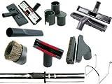 Accessori per aspirapolvere centrale, 32 mm, kit 9 pezzi – Spazzole con asta telescopica