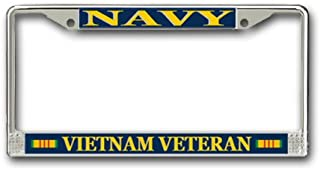MilitaryBest U.S. Navy Vietnam Veteran License Plate Frame