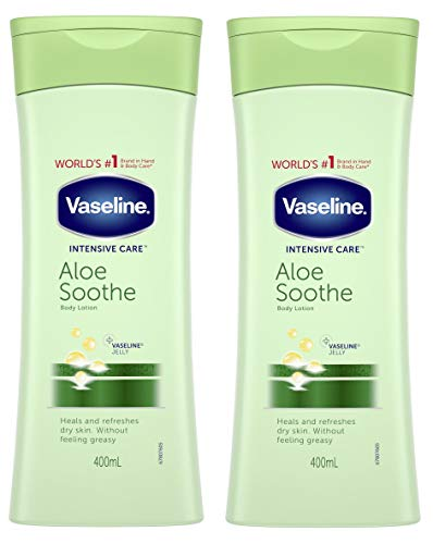 Vaseline Intensive Care Aloe Soothe Lotion 400Ml - Pack of 2