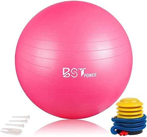 Exercise Ball 55 65cm BSTpower Anti Burst Yoga Ball with Quick Pump Professional Grade Non Slip product image