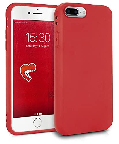 MyGadget Cover per Apple iPhone 7 Plus / 8 Plus - Custodia Protettiva in Silicone Morbido – Case TPU Flessibile/Antiurto/Antigraffio/Ultrasottile Rosso