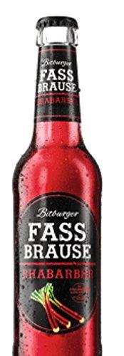 24 Flaschen Bitburger Fassbrause Rhabarber 24 x 0,33L Alkoholfreies Erfrischungsgetränk inclusive 1.96€ MEHRWEG Pfand ohne Rahmen