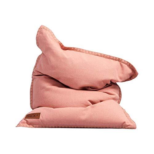 SACKit - SQUAREit Cobana Junior Rose - Rosa quadratischer Indoor/Outdoor Sitzsack für Kinder, Jungen und Mädchen – EIN Sessel für das Kinderzimmer oder fürs Gaming im Jugendzimmer