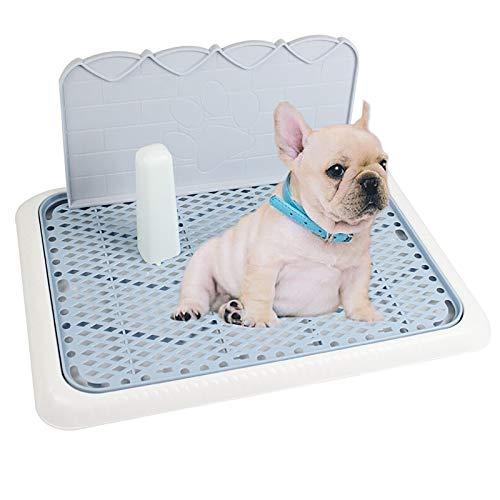DDDMMM Orinal para Mascotas Bandeja para Inodoro para Perros Almohadilla para Entrenamiento Orinal para Inodoro para Perros,con Poste Biónico y Pared Biónica.