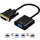 DVI to VGA Adapter,ABLEWE 1080p Active DVI-D to VGA Adapter Converter 24+1 Male to Female Adapter