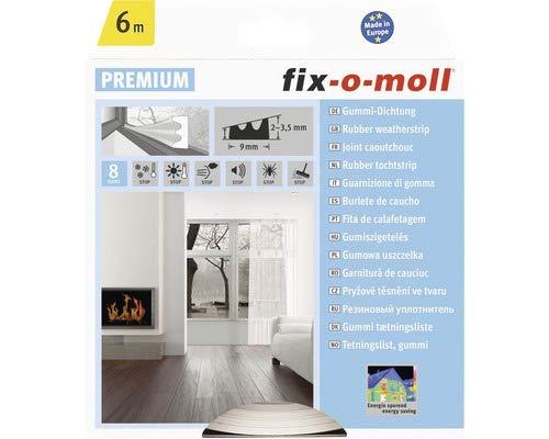 fix-o-moll E-Profildichtung 2-3,5 mm x 9 mm selbstklebend weiß, 3565235