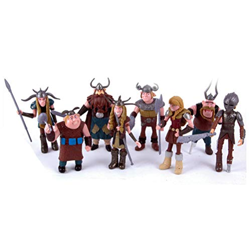 CAKJCAR 8PCS Viking Doll Toys How to Train Your Dragon Birthday Gift Holiday Christmas Gift