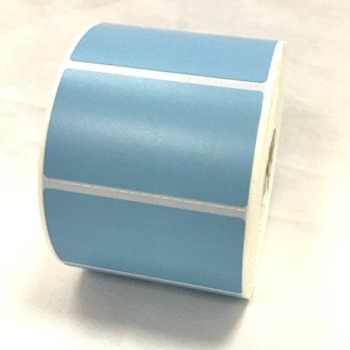 4Rollen 2,25x 1,25Thermodirekt Etiketten hellblau 1000Etiketten pro Rolle Zebra/Eltron Drucker kompatibel 2,5cm Core