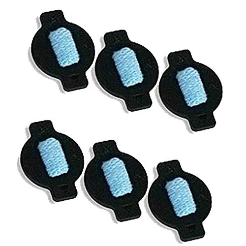 Binchil 6 Stücke Wasser Docht Kappe Kit für Braava 380 380 T 320 Mint 4200 4205 5200 5200C Roboter Ersatz Staubsauger Teile