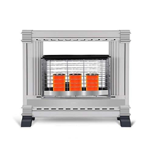 APAN Calentador columnar de Gas licuado de Gas Natural Flameout,hipoxia,Descarga Triple protección 3 Niveles de Temperatura Ventilador de calefacción de Velocidad de Ahorro de energía portátil AJ
