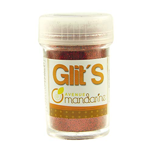 Avenue Mandarine 42506MD - Un flacon de paillettes Glit's 14 g Rouge