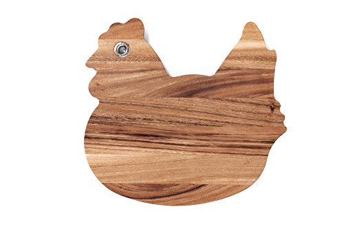 Ironwood Rooster Cutting Board, One Size, Acacia Wood