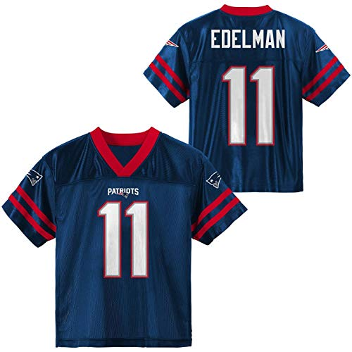 Julian Edelman New England Patriots #11 Navy Blue Youth Home Player Jersey (Large 14/16)