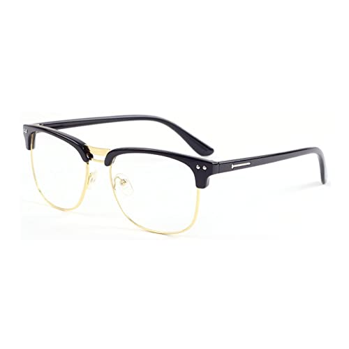 0edec8776 Outray Vintage Classic Half Frame Semi-Rimless Retro Clear Lens Glasses
