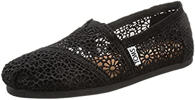 TOMS Crochet Classics Womens Women Shoes