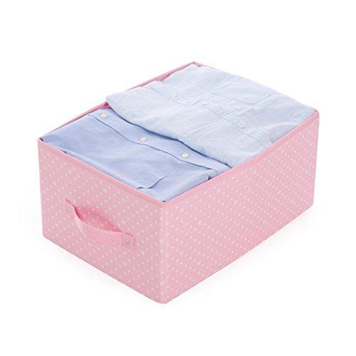 Xuan - Worth Another Motif de Point Blanc Rose Hanging Bag Drawer Box Aucune boîte de Rangement Cover 24L Box de Finition de vêtements Folding Storage Box (Couleur : 4pcs)