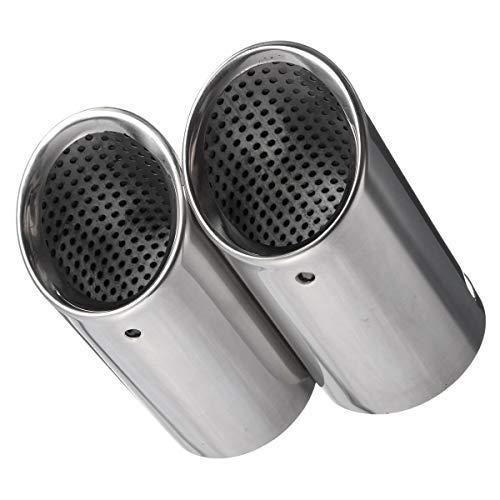 1 par de tuberías de escape de escape de coche cromado Consejos for las tuberías de silenciador VW EOS 2006-2014 Passat B6 2005-2010 CC 2008-2012 for 2005-2010 Cola De Escape Coche