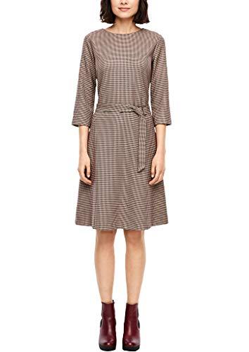 s.Oliver Damen Kleid mit Pepita-Muster red AOP 46