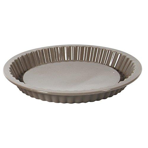 Crealys 512281 Moule à Tarte en Silicone Candy Gris 26 cm