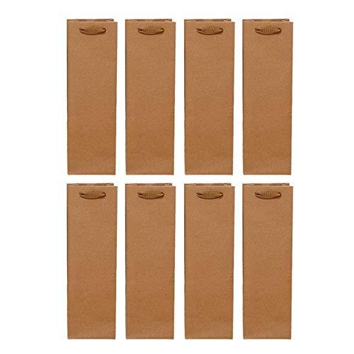 SASCD 24X Kraft Papier Rotwein Handtasche Wein Getränke-Verpackungs-Beutel-Speicher-Beutel Einzel Vessle Papier Wein-Tasche Weinflasche Verpackung Taschen
