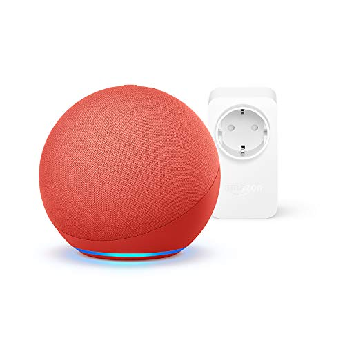 Der neue Echo (4. Generation), PRODUCT(RED) + Amazon Smart Plug (WLAN-Steckdose), Funktionert mit Alexa