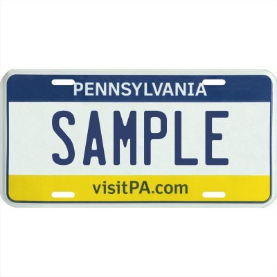 Your Name Your State Custom Metal License Plate - Choose from All 50 States (Pennsylvania, 6' x 12' Standard Thickness (.030'))