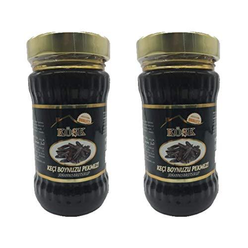 Kösk Johannisbrotsirup - Keciboynuzu Pekmezi /VEGAN/ 100% natürlicher Inhalt /ohne Farbstoffe /Ohne Konservierungsstoffe/Glutenfrei/ 2x380GR