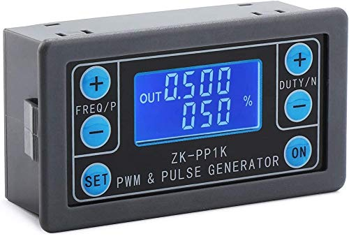 DollaTek Generador de señal PWM 1Hz ~ 150KHz Generador de modo dual Frecuencia de pulso ajustable Relación de trabajo Módulo de onda cuadrada rectangular con estuche