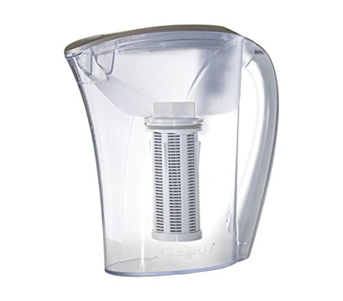 Clear2O Advanced Gravity Water Filter Pitcher, 48oz, Silver