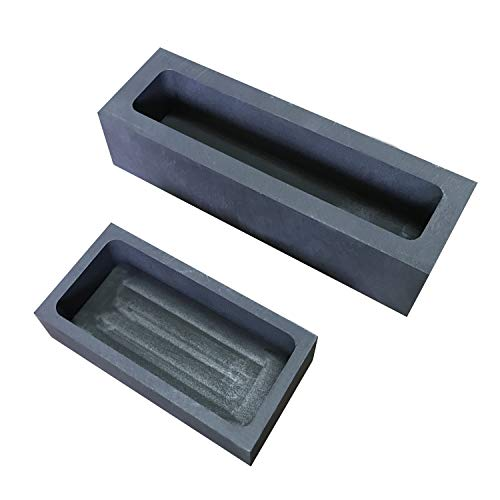 1+ 2kg Graphite Ingot Casting Mold Mould Graphite Crucible Melting Casting Refining for Silver Gold Gold Silver Nonferrous Metal