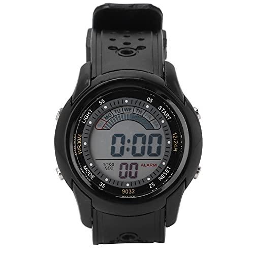 Liujaos Reloj Deportivo De Digitaces, Reloj Electrónico De Los Estudiantes De La Luz De La Noche del Cronómetro para Los Deportes para Los Estudiantes
