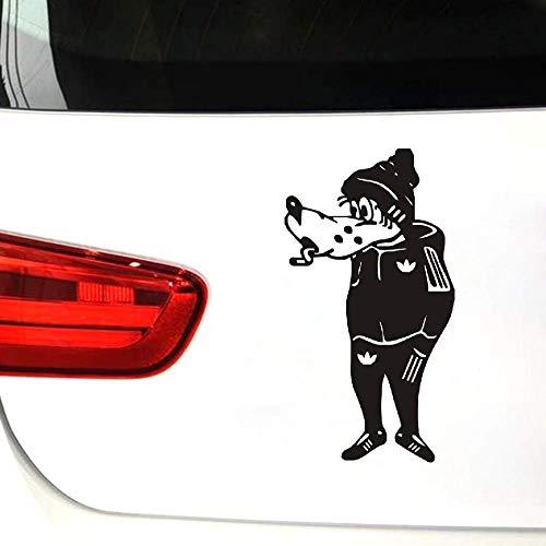 De Wolf in het kostuum, wacht. Grappig voor Auto Bumper Venster Vinyl Sticker Sticker Stickers DIY Decor
