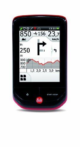 Falk Outdoor GPS wheel computer PANTERA 32Topografischer Card Navigation (EU 25), Ant + Black/Red by Falk