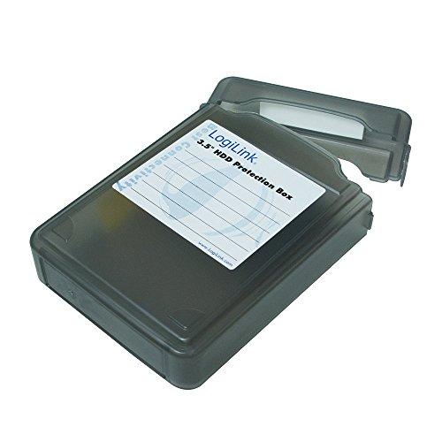 LogiLink UA0133 Festplatte Schutzhülle für 1x 8,9 cm (3,5 Zoll) HDD, schwarz