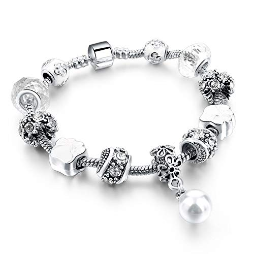 Hot Selling Diy Crystal Beads Bracelets & Bangles Snake Chain Charm Bracelets For Women Jewellery Length 20cm