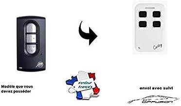 Carty R afstandsbediening compatibel met AlLMATIC Tech 3 voor vaste code en rolling code – voor garagedeur.