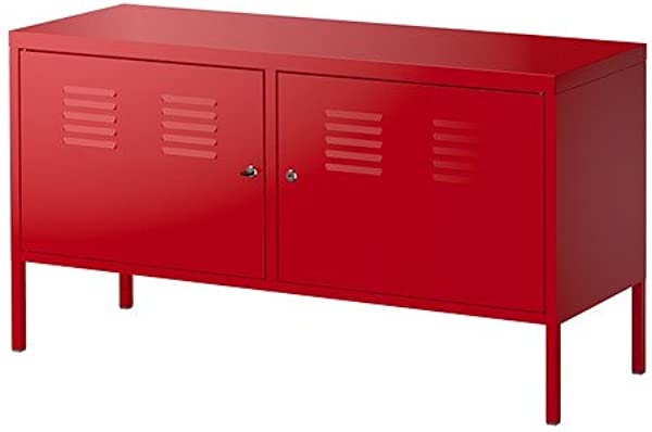 Ikea Red Cabinet Stand Multi Use Lockable