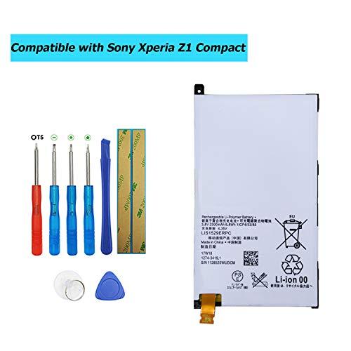 Upplus LIS1529ERPC - Batería de Repuesto Compatible con Sony Ericsson Xperia Z1 Compact Xperia Z1 Mini Xperia Z1f D5503 con Kit de Herramientas
