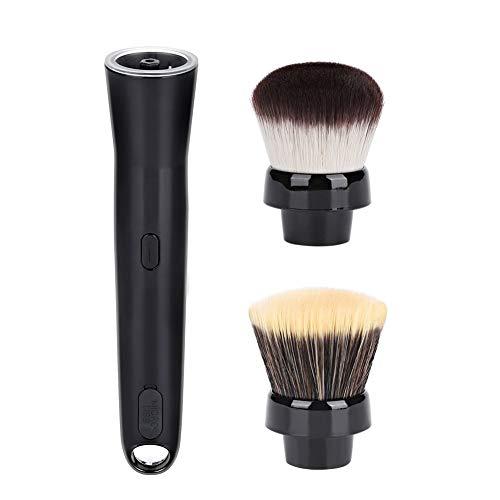 Salmue Pinceau électrique de Maquillage, Pinceau Rotatif Automatique de Maquillage avec des têtes de Brosse de Fondation et de Fard à Joues, Machine de Nettoyage de brosses cosmétiques