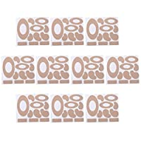Exceart 10枚のモールスキンテープフランネル粘着パッドヒールステッカーブリスター防止パッド足生地パッド用耐摩耗ヒールパッド