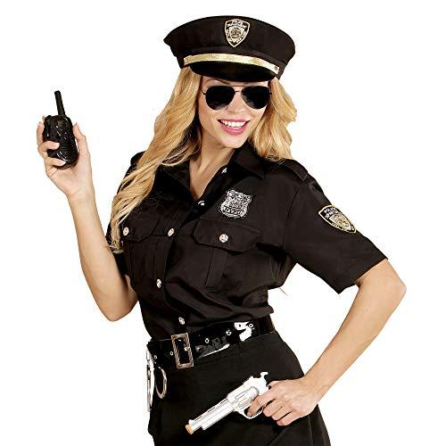 Widmann 11010376 Erwachsenenkostüm Polizistin, Damen, Schwarz/Blau, XL