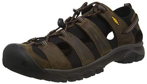 KEEN Men's Targhee 3 Closed Toe Hiking Sport Sandal, Bison/Mulch, 8.5