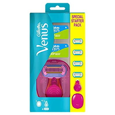 Gillette Venus Extra Smooth Snap Women's On-the-go Razor + 4 Blades with 5 Diamond?Like Coated Blades from Procter & Gamble