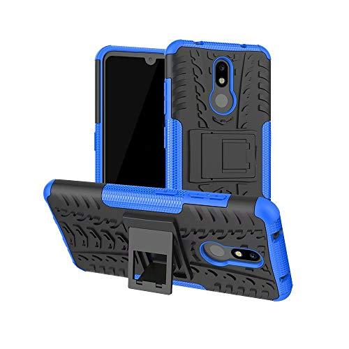 Custodia per Samsung Galaxy S30/S21, design 2 in 1, resistente, a doppio strato, antiurto, protezione integrale con cavalletto per Samsung Galaxy S30/S21, colore: blu